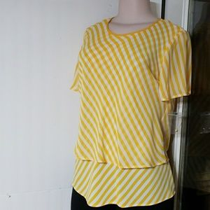 Yellow blouse by Vince Camuto